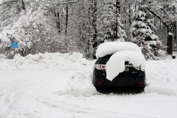 snehová nádielka v Bardejovských kúpeľoch