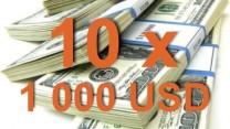 Výhercovia súťaže o 10 x 1 000 USD